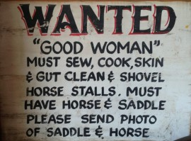 Wanted Good Woman Sign 270x